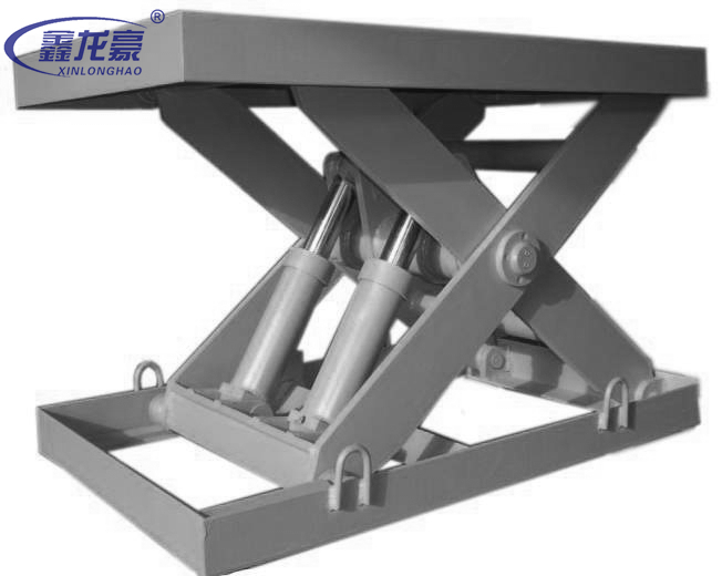 Cargo loading and unloading electric small platform scissor lift