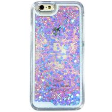 Dynamic Glitter Liquid Laser Heart Light Pink Color PC Case for iPhone 5C