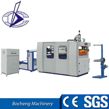 Plastic extrusion and thermoforming machine for cup plate