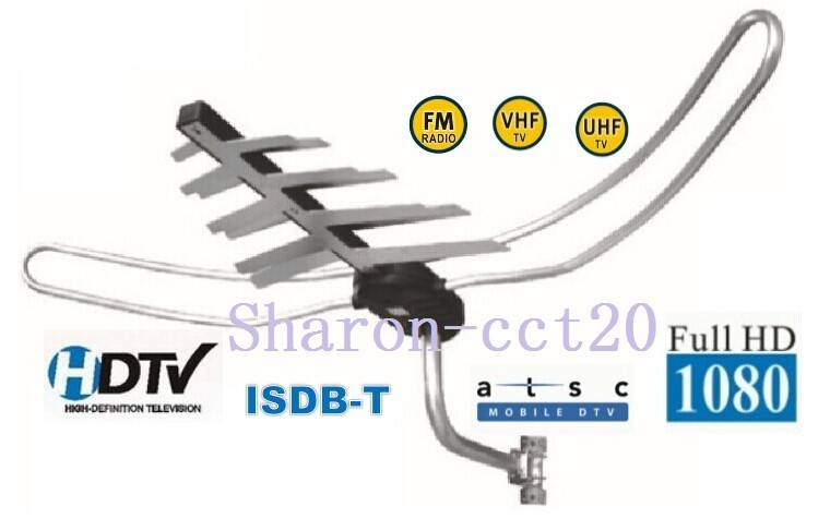 Digital Compatible ISDB T HDTV Outdoor Antenna FD-087