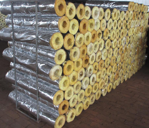 Rock wool thermal insulation pipe section
