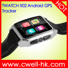 New Hot TWATCH X02 Smart Watch Phone 1.54 Inch IPS GPS Tracker Android 4.4 Dual Core 512MB+4GB 3G WIFI Heart Rate Monitor