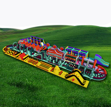 World's biggest inflatable obstacle course, longest and largest the beast inflatable obstacle course for adults