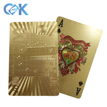 Table Games Durable Plastic Playing <strong>Cards</strong> Gold Foil Poker Golden Poker Gold Foil Plated Playing <strong>Cards</strong> Deck Gift