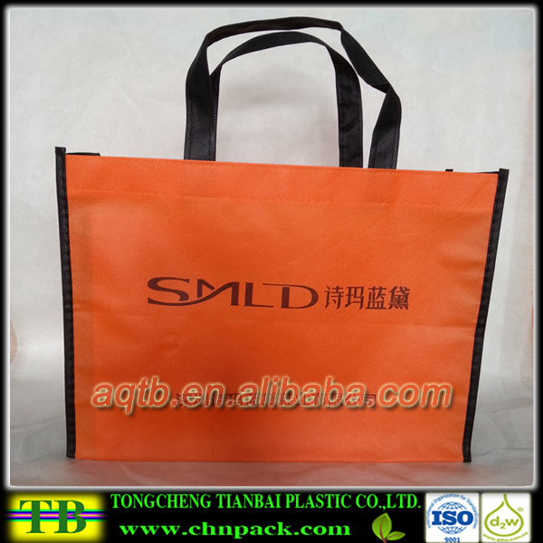 fashion type recycle pp non woven tote shopping bag