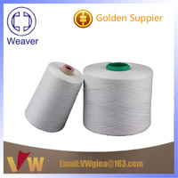 bright bleached white 100% polyester sewing thread 20/3 plastic cone