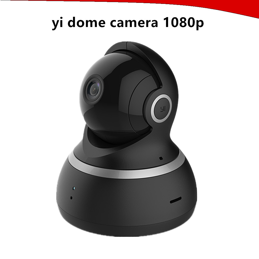 YI Dome Camera 1080P Pan/Tilt/Zoom Complete 360 Degree Coverage Wireless IP Security Surveillance System Night Vision