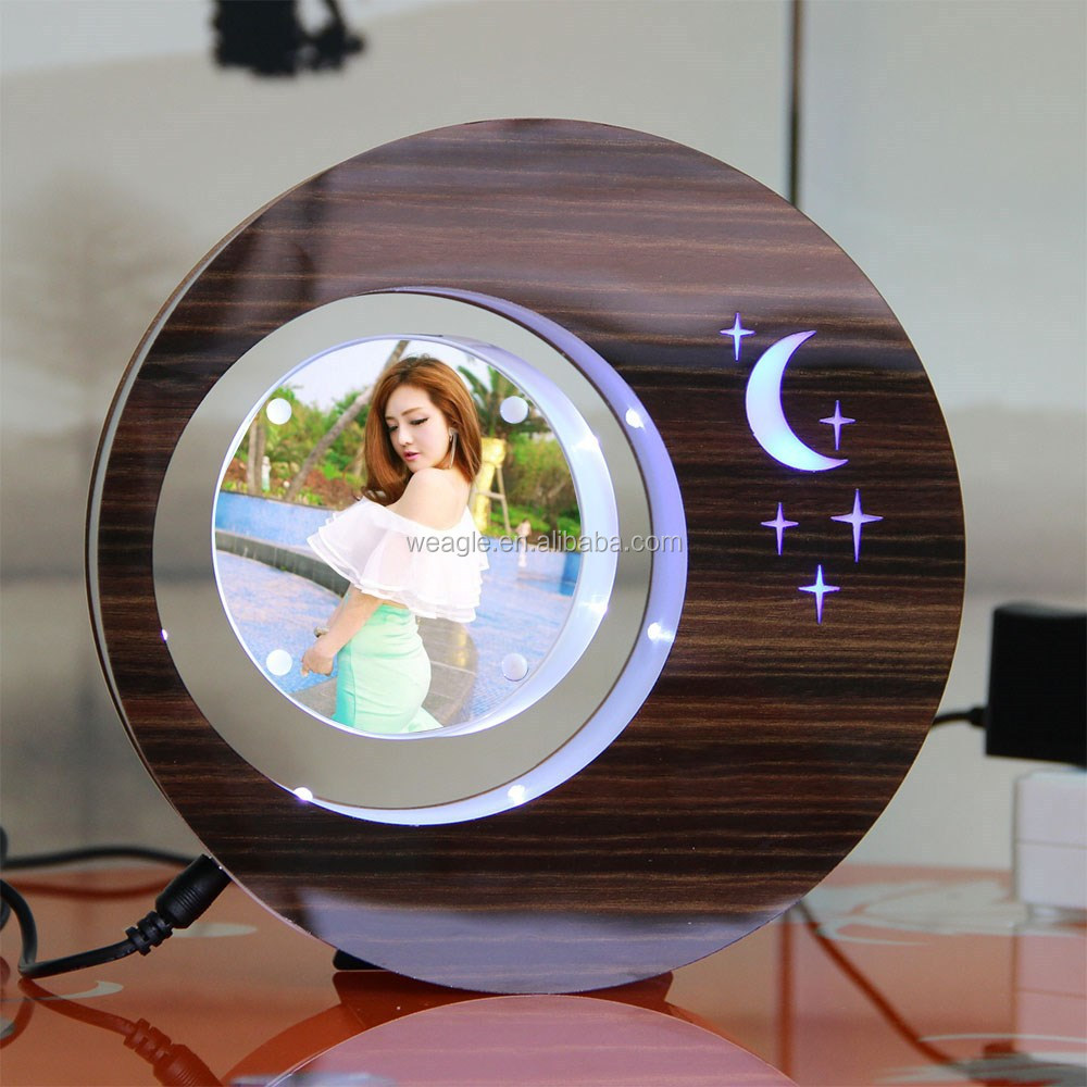 LED suspending in the air magnetic levitation photo framegift <strong>promotion</strong>