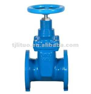 Factory!!!! Ductile iron resilient seated ductile iron gate valve non-rising stem