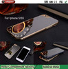 2015 Christmas Gift Metal Frame plus Mirror Cover for iphone5 s Girl Mirror for apple iphone5