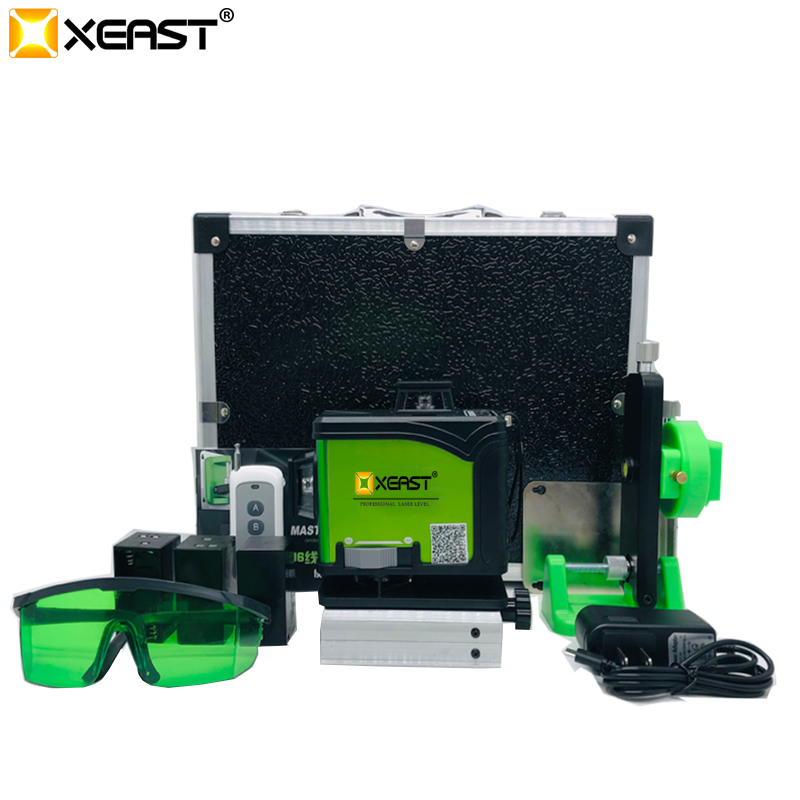 New arrival affixing instrument 4D <strong>level</strong> high precision glare floor tile leveling instrument 16 lines Green light laser <strong>level</strong>
