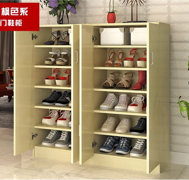wholesale multi door shoe cabinet simple wooden shoe rack cabinet for sale