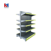 Beauty products supermarket shelves retail display racks