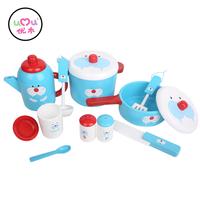 UMU#1204Walrus Tableware Kitchen wooden Toys For Kids