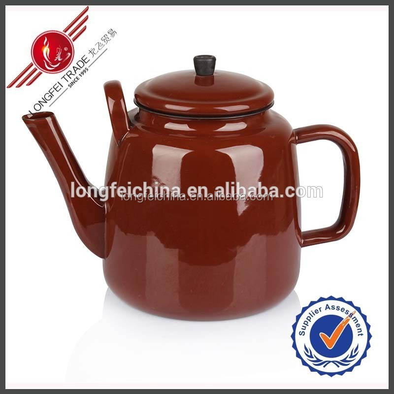 3.5L Coffee Color New Design African Enamel Teapot Enamel Tea Pot Enamel Kettle