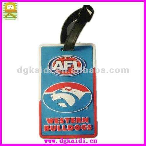 OEM pvc airline luggage tags/promotion plastic luggage tags
