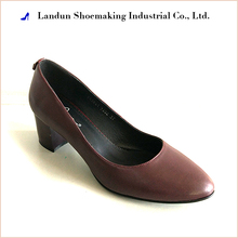 Fashion girls genuine leather high heel dress shoes from China shoes factory