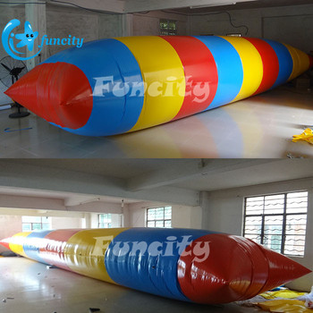 Water Park Game Inflatable Water Catapult Blob In 7 Years Lifespan