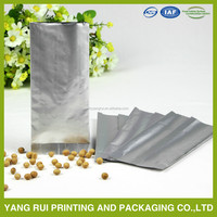 silver plastic aluminum foil stand up bags for coffee