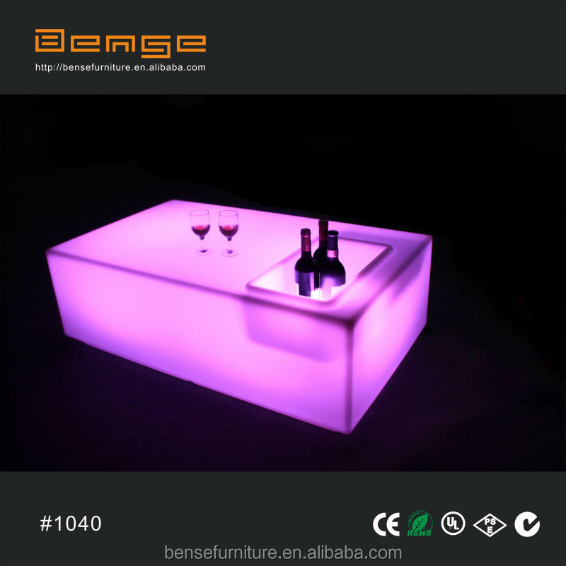 modern design lighting ice bucket table LED bar table