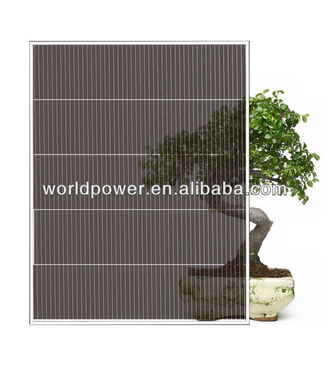 Color Thin Film Solar Panel/A-Si Thin Film Double Glass Solar Module