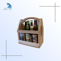 Custom logo laser engraved cheap assembled solid wooden wine crates for sale