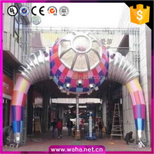 6*6.3m/8*8.3m Customized Inflatable Arch/UFO Replica Inflatable/Event Arch Decoration W10581