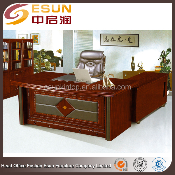 ISO standard size wooden office executive table pictures