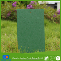 Green Leather Effect Spraying Polyester Powder Coating