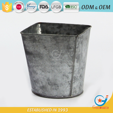 galvanized flower containers decorating metal fancy plant pots