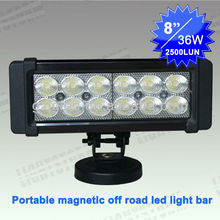 2012 New led light bar with magnetic base ,cigar lighter, portable led car light 12v