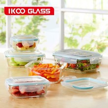 in walmart Pyrex glass lock container with PP lid