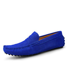 New arrival italian design driving shoes slip on suede leather loafers for men 2017