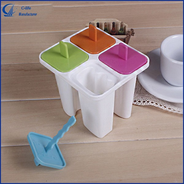 4PCS Letter Popsicle Molds Homemade Ice Cream Sorbet Lattice Yogurt Mould