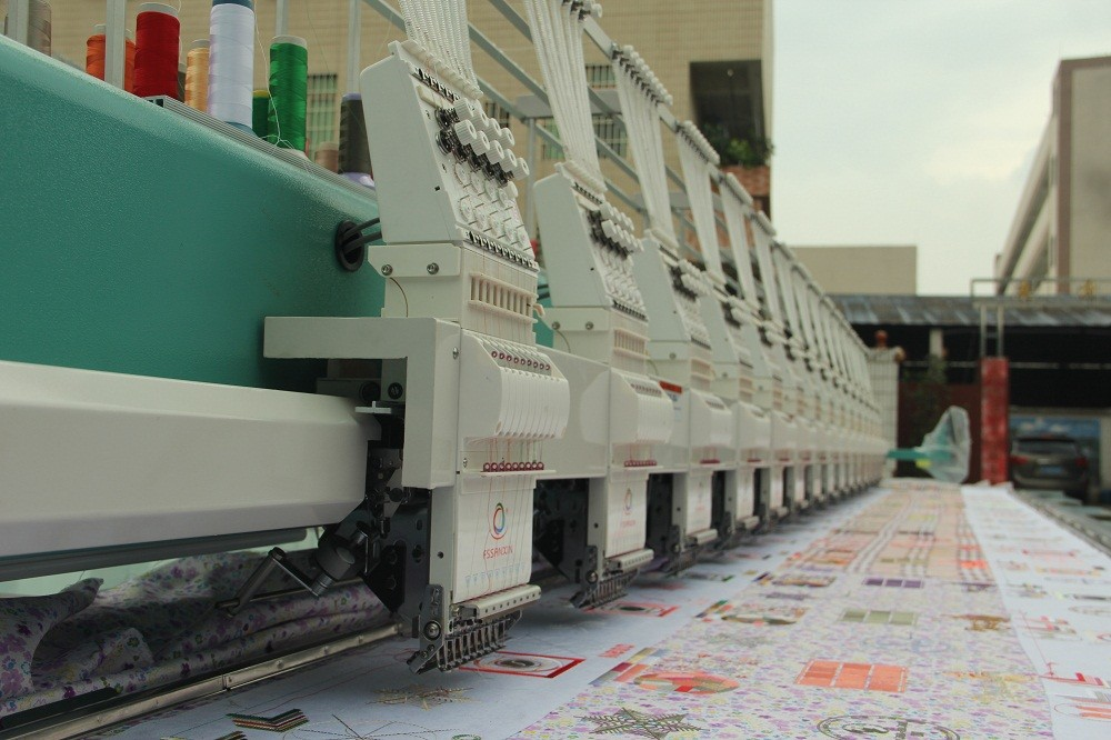 High Quality 15 heads simple high speed computerized Foshan flat computer embroidery machine