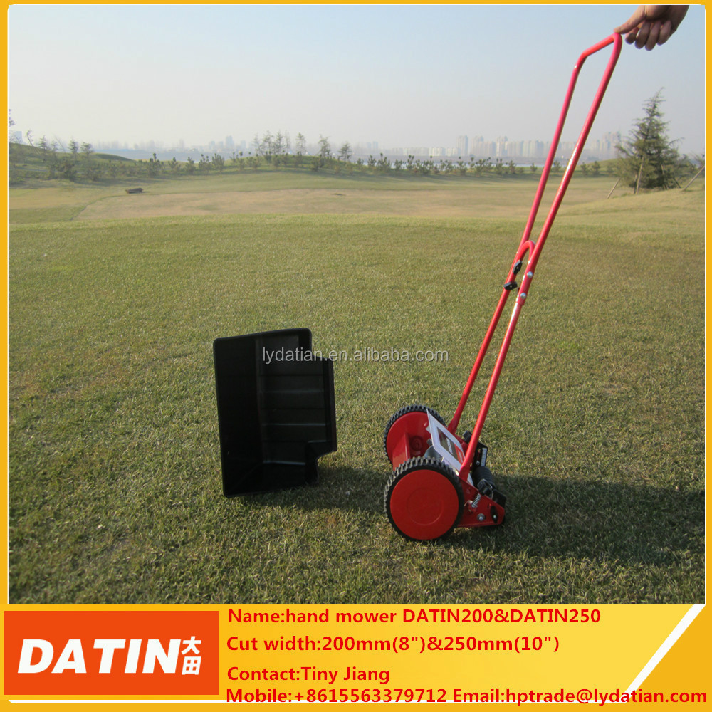 250mm and 200mm hand push manual lawn mower