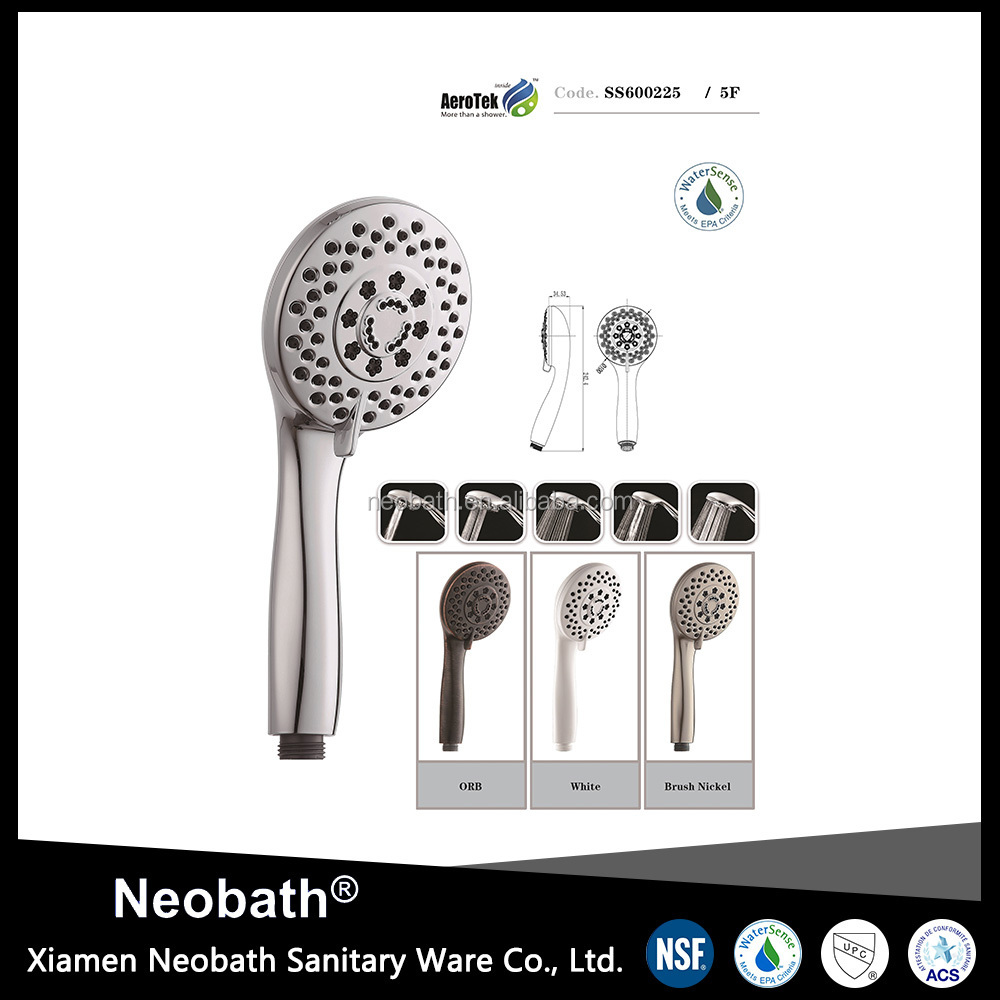 High Quality ABS Plastic handheld showerheads
