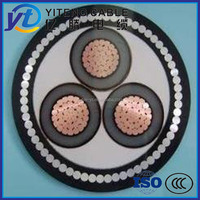 Low Voltage electric copper power cable neoprene Insulated aluminum Cable