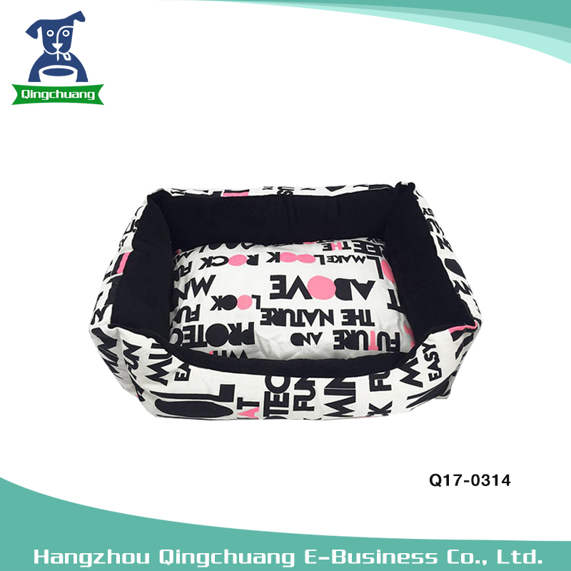 Love printed not esay deformation heated pet bed dog kennel