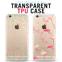 Fashion Ultrathin Soft Silicone Back Cover Case For Apple iPhone 6 6s Case Transparent Back Cover For iPhone