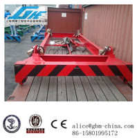 40feet Low height Semi-automatic container lifting beam,mechanical spreader for bulk material