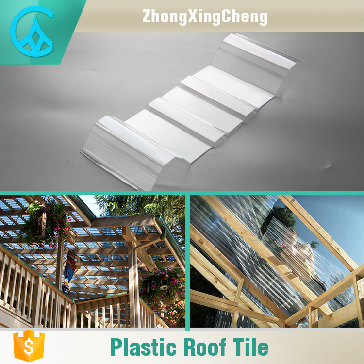 Customized Installation Transparent Plastic Fire Resistant Roof Tile