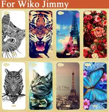 Diy Luxury Cartoon Style case For WIKO JIMMY Phone Cover With Painting tiger lion OWL Rose Eiffel tower Case Sheer Free Shipping
