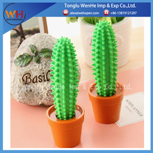 2017 factory directly supply office decoration potted spike pen cactus ballpoint pen