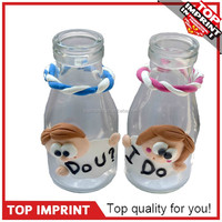 DIY Bottle Charms Couple Gifts With Air Dry Clay