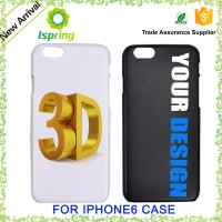 3D UV printing custom design phone case, 3d design mobile phone cover for iphone 6