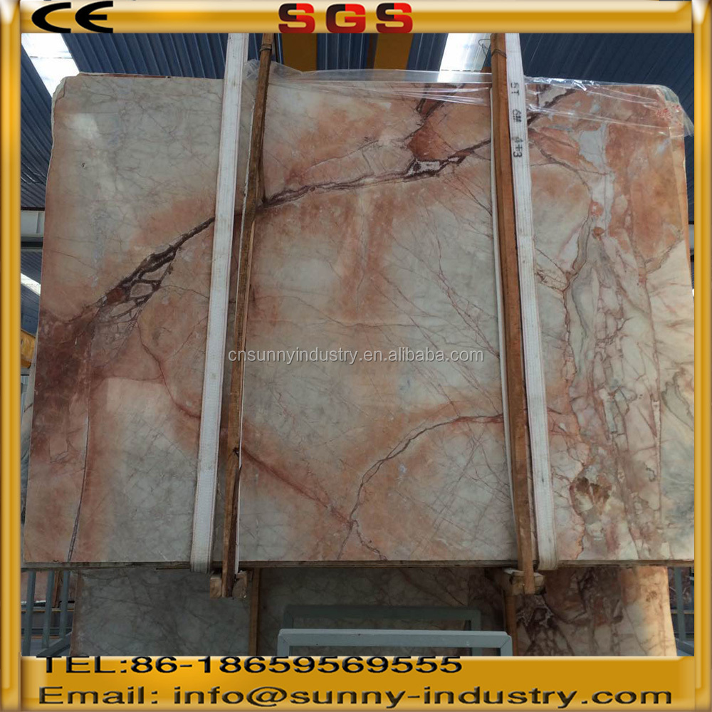 Factory Polished Natural vein Translucent Red Gem Marble Onyx Slabs Price