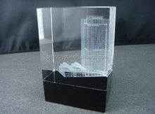crystal inside carving with black base for office adornment MH-Z088