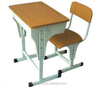 Cheap adjustable double and single school desk and chair