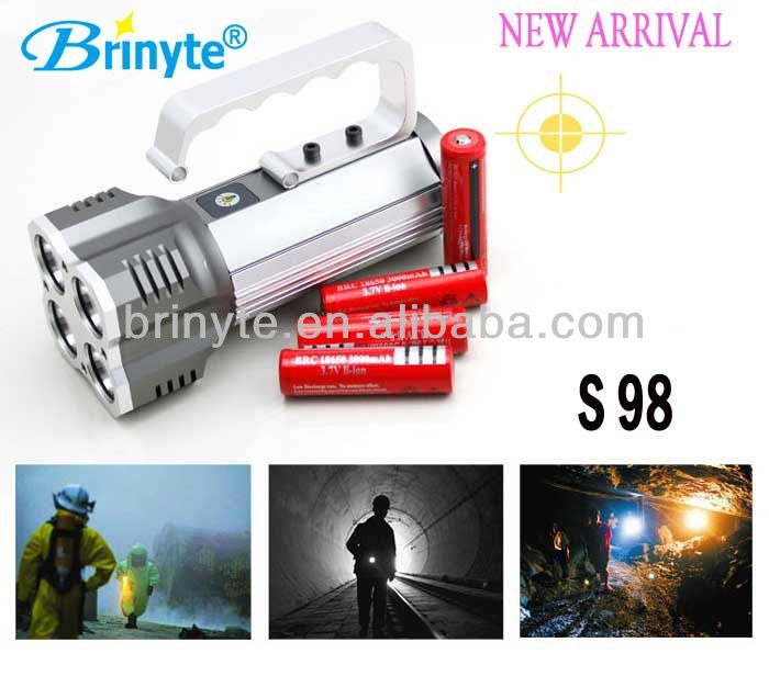 2013 New Product S98 Direct charger t6061 Emergency Electric Charging Flashlight